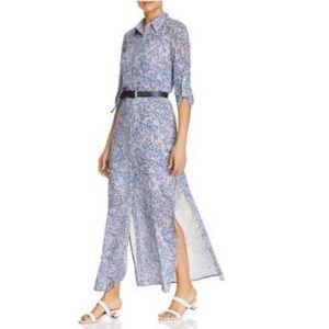 New! MICHAEL Kors Coral Mosaic-Print Maxi Dress